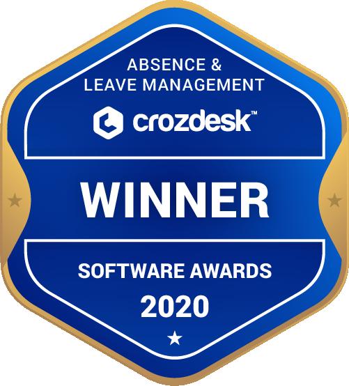 Absence & Leave Management Software Award 2020 Winner Badge