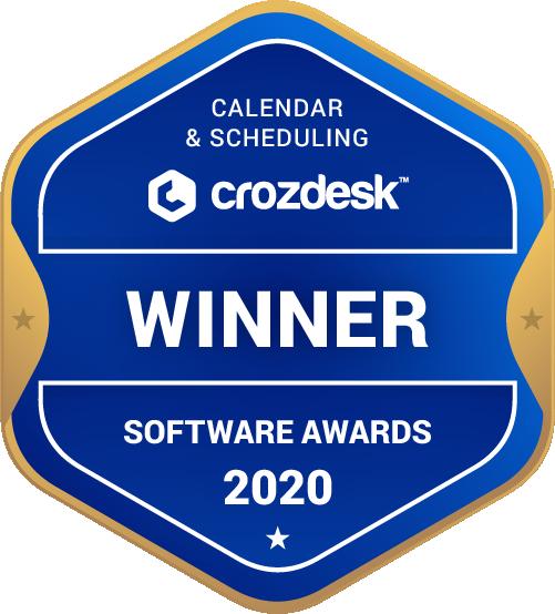 YouCanBook.me Calendar & Scheduling Software Award 2020