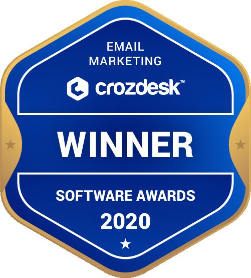 Email Marketing Software Award 2020 Winner Badge