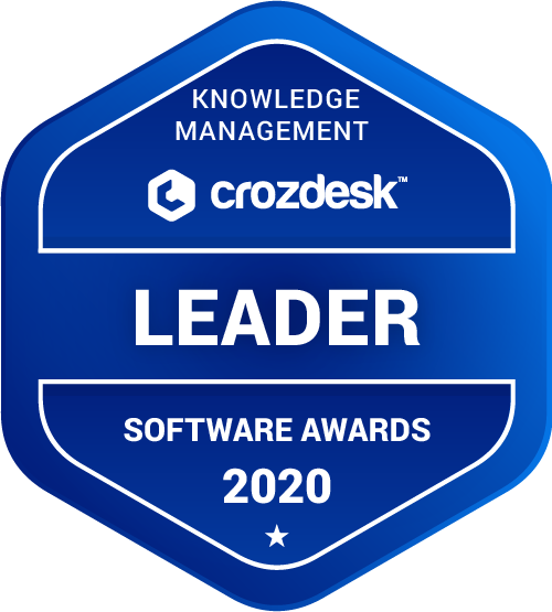 ServiceNow Knowledge Management Software Award 2020