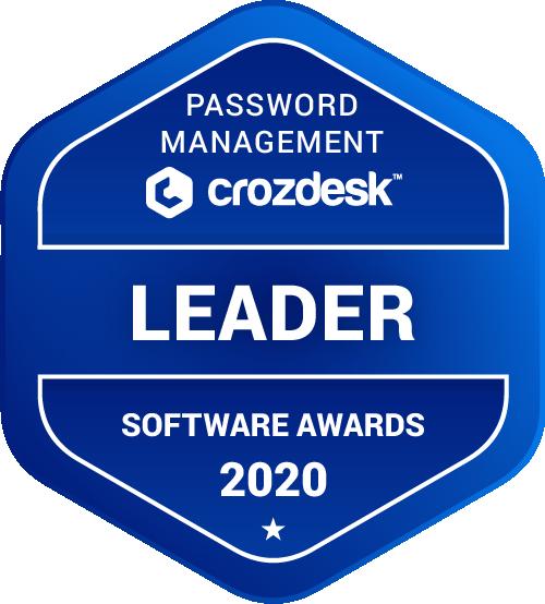 Password Management Software Award 2020 Leader Badge
