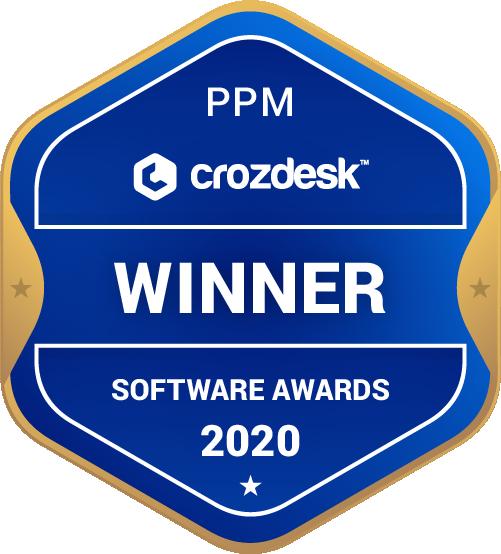 Project Portfolio Management Software Award 2020 Winner Badge