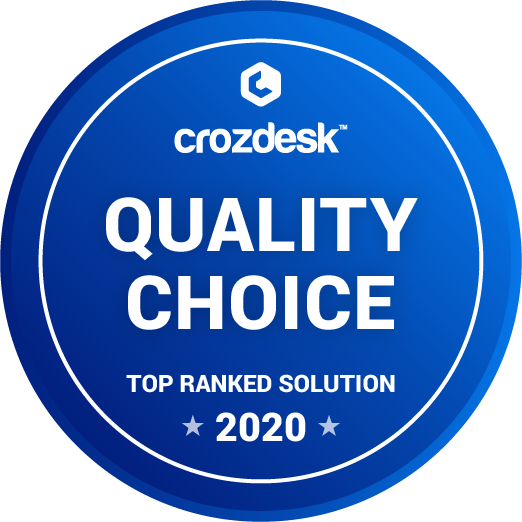 crozdesk quality choice badge 2020