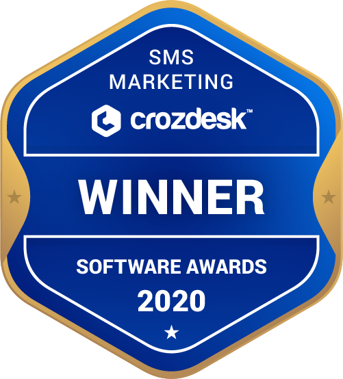 SMS Marketing Winner Badge