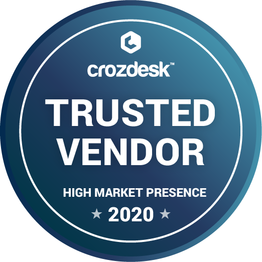 crozdesk trusted vendor badge 2020
