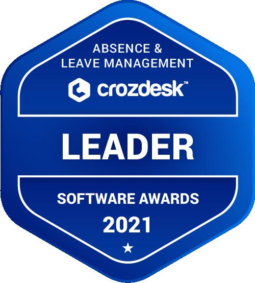 Absence & Leave Management Software Award 2021 Leader Badge