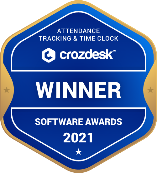 Attendance Tracking & Time Clock Winner Badge