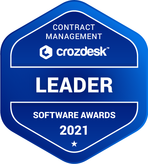 Contract Management Software Award 2021 Leader Badge