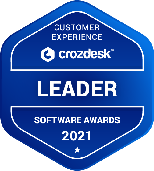 Customer Experience Software Award 2021 Leader Badge