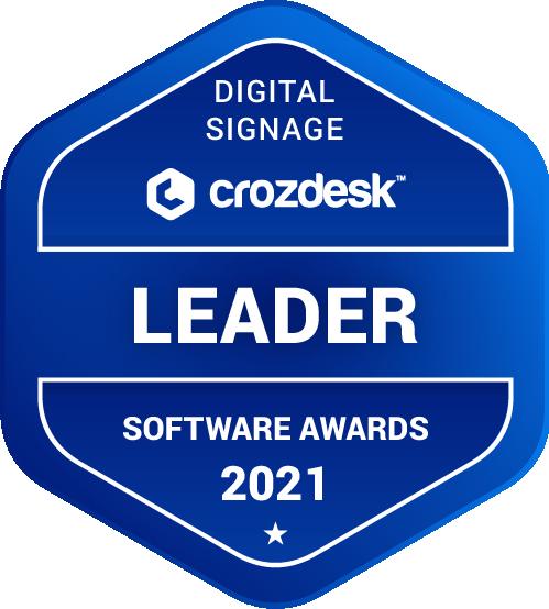 Digital Signage Software Award 2021 Leader Badge