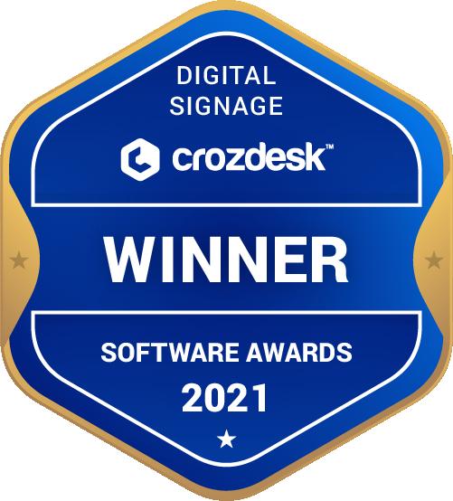 Digital Signage Software Award 2021 Winner Badge