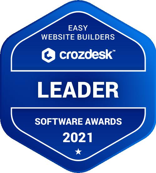 Easy Website Builders Software Award 2021 Leader Badge