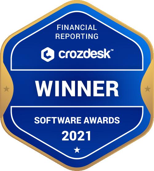 Financial Reporting Software Award 2021 Winner Badge