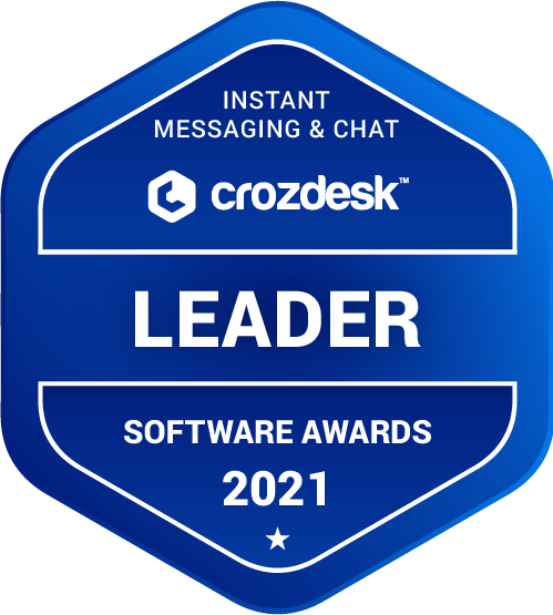 Instant Messaging & Chat Software Award 2021 Leader Badge
