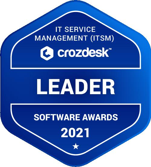 IT Service Management (ITSM) Software Award 2021 Leader Badge