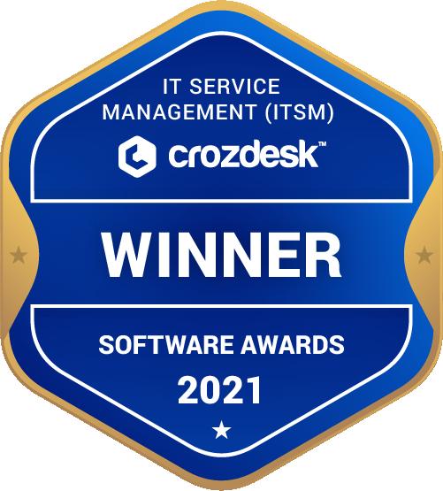 IT Service Management (ITSM) Software Award 2021 Winner Badge