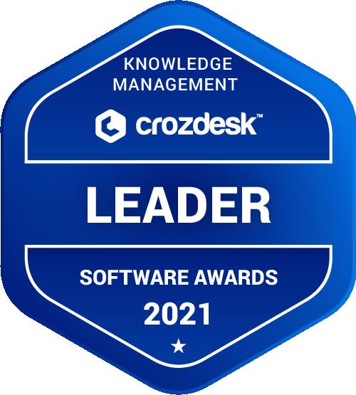 Knowledge Management Software Award 2021 Leader Badge