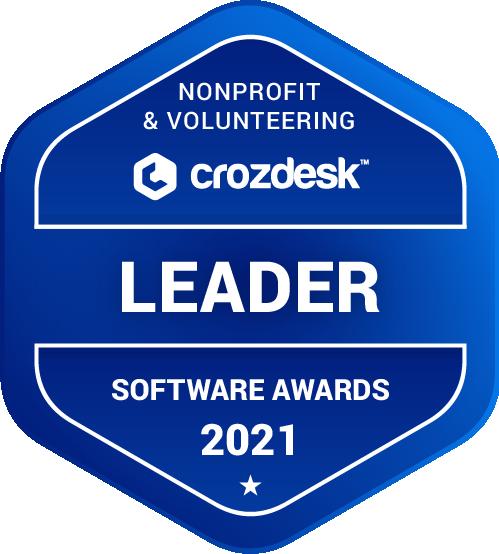 Nonprofit & Volunteering Software Award 2021 Leader Badge