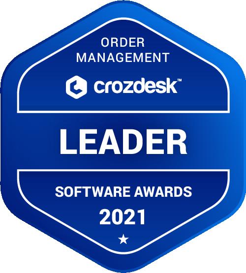 Order Management Software Award 2021 Leader Badge