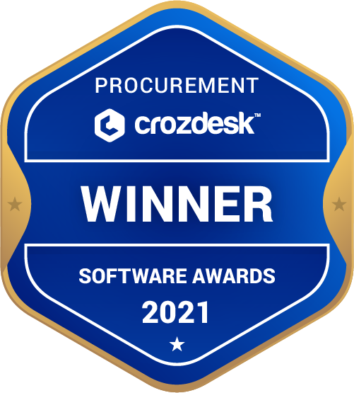Procurement Software Award 2021 Winner Badge
