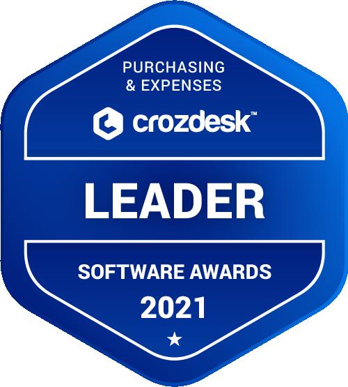 Purchasing & Expenses Software Award 2021 Leader Badge