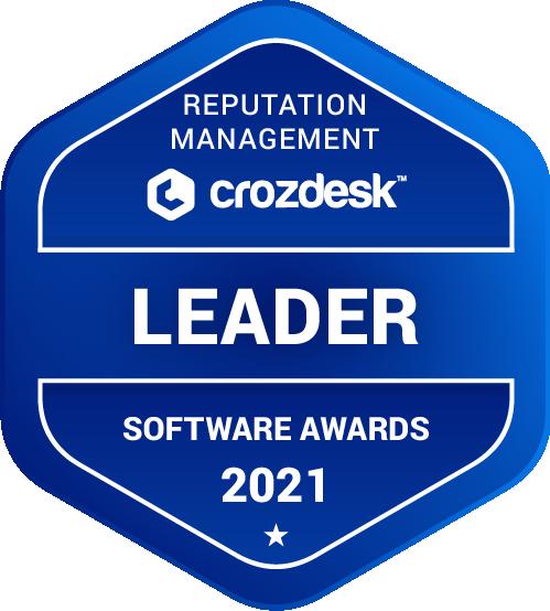 Reputation Management Software Award 2021 Leader Badge