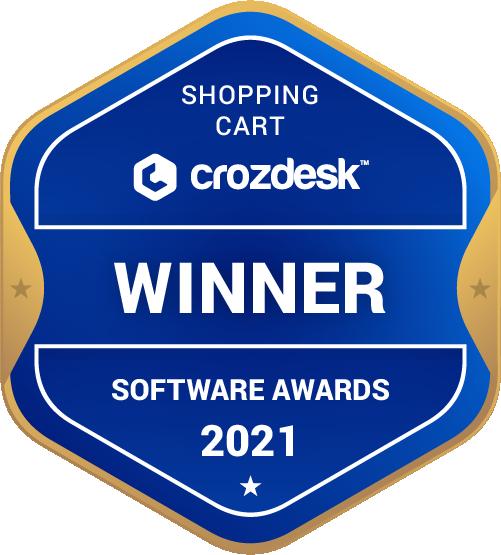Shopping Cart Software Award 2021 Winner Badge