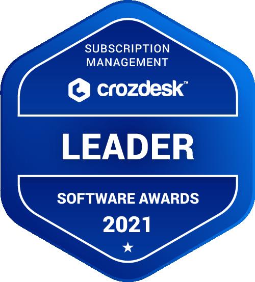 Subscription Management Software Award 2021 Leader Badge