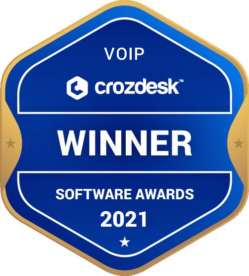 VoIP Software Award 2021 Winner Badge